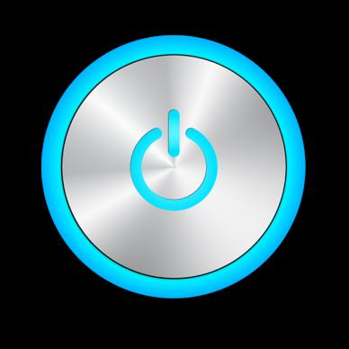 Power Button blue