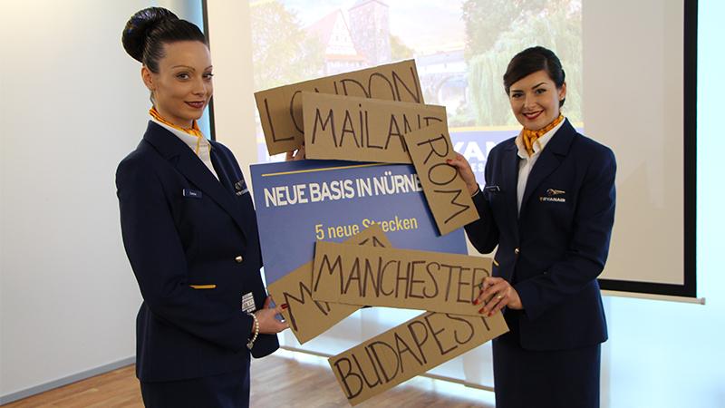 Ryanair opens 5 new routes to Nuremberg
