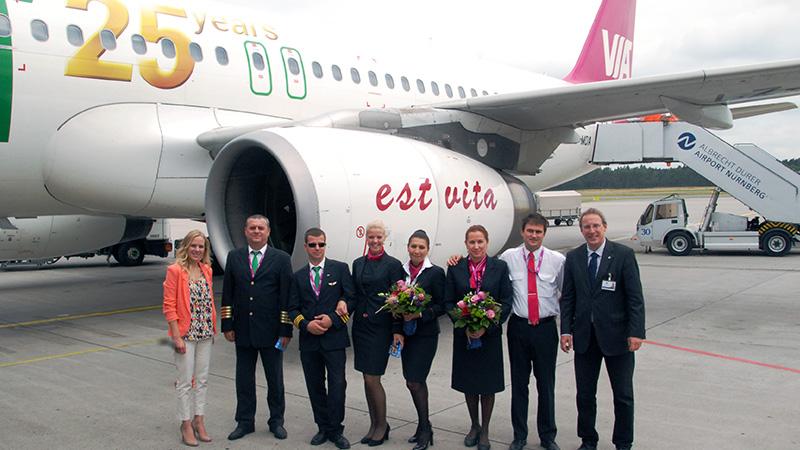 Bulgarian airline Air Via celebrates its 25th anniversary – 20 years in Nuremberg
