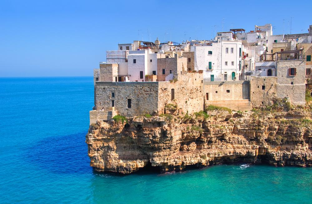 Blick auf Polignono in Bari