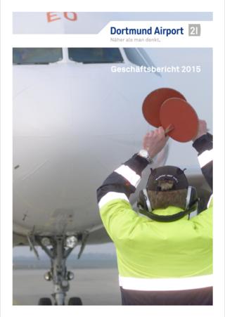 Titelseite des Geschäftsberichts 2015 des Dortmund Airport