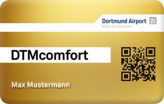 DTMcomfort: Die Kundenkarte des Dortmund Airport.
