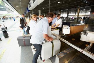 Gepäckaufgabe im   Terminal