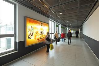 Werbeflächen mit LED-Beleuchtung