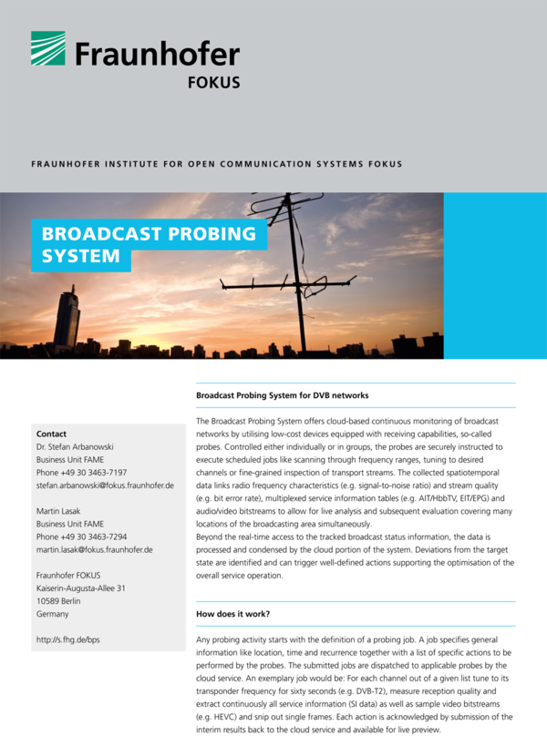 Broadcast Probing System