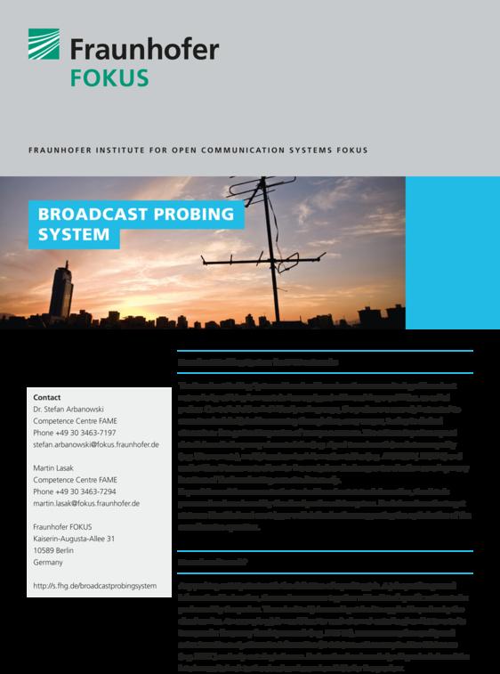 fame broadcast probing system flyer cover 2016
