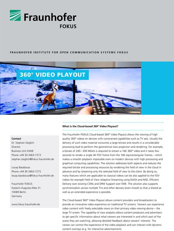 fame 360 video playout flyer 2016 cover