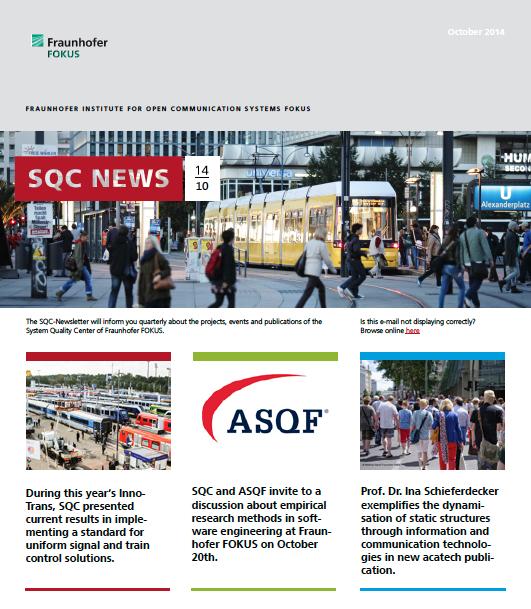 Screenshot SQC Newsletter No. 3