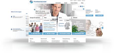 Web-Relaunch Pharmatechnik