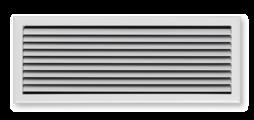 Lüftungsgitter mit flach auslaufendem Frontrahmen – auch als Gitterband