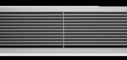Lüftungsgitter aus Aluminium mit einzeln verstellbaren waagerechten Lamellen